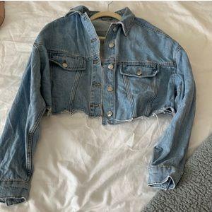 Top shop cropped jeans jacket